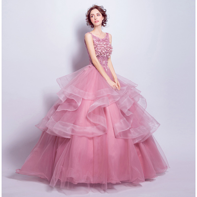 shop Ball Gown quinceanera Lace-up Back Party Dress