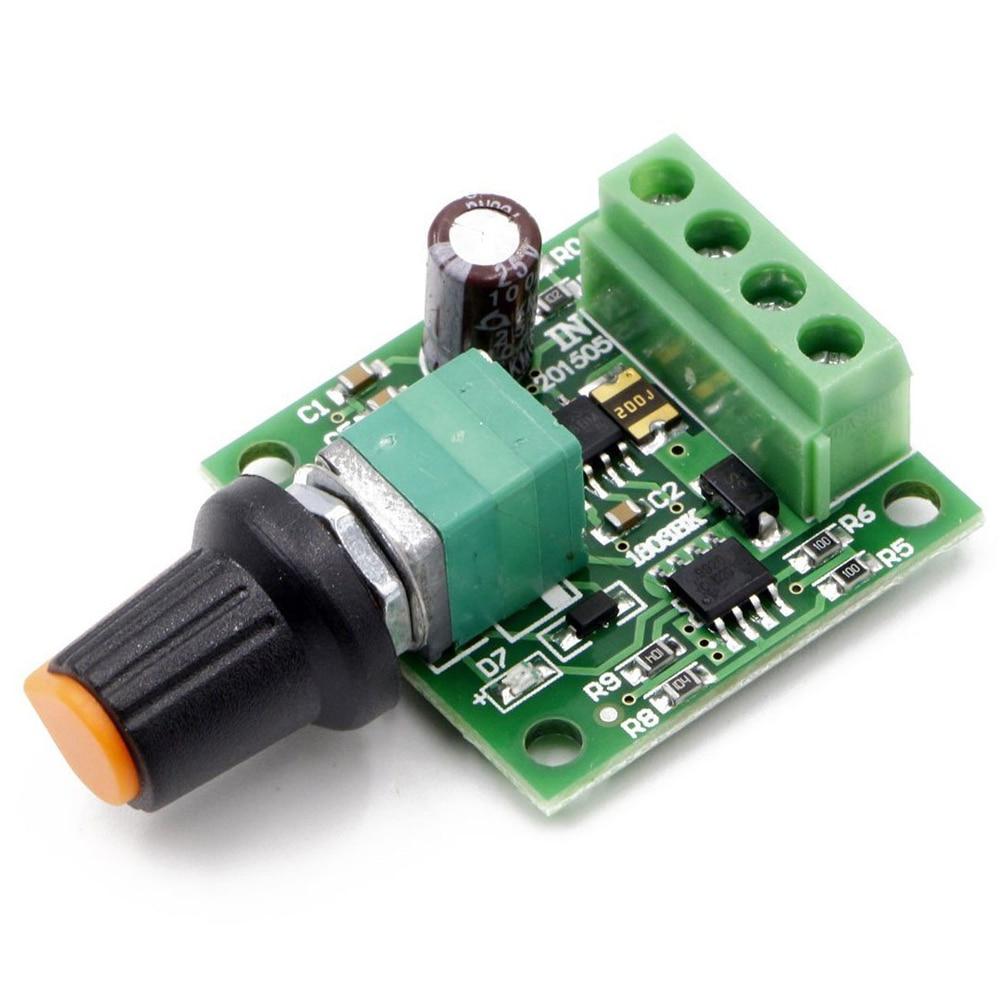 DC 30W 1.8V 3V 5V 6V 12V 2A Voltage Motor Speed Controller PWM 1803Bk Regulator