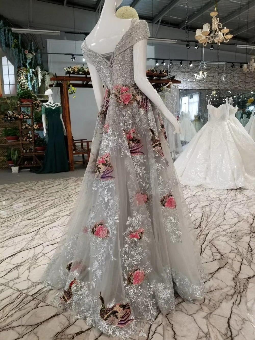 Flowers Birds Patterns Bling Crystals Celebrity Dresses