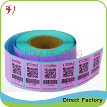 Customized Barcode label,serial numbers sticker label,QR code sticker label(China)