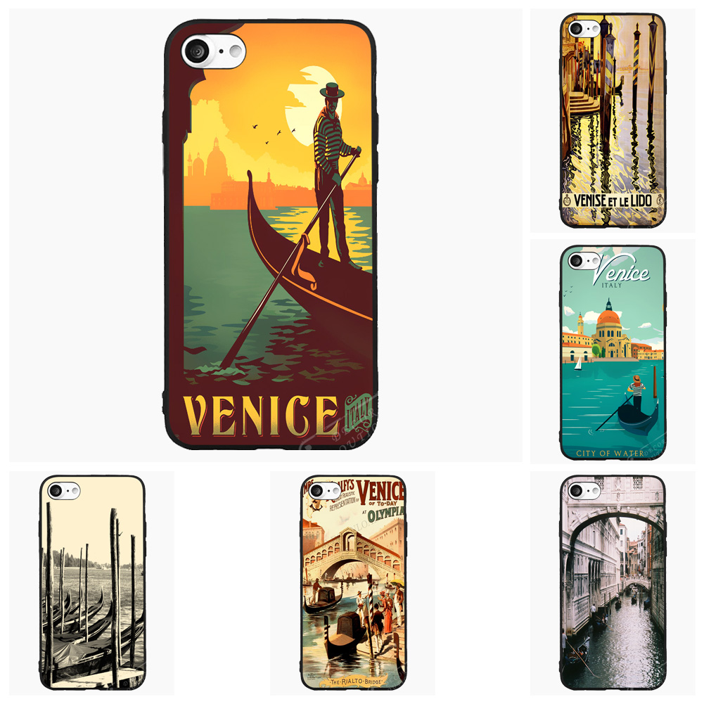 Italy Venice Gondola Travel Cell Phone Case For Xiaomi Mi Redmi Note Pro 1 1s 2s 3 4i 5 6 For iPhone Cover Shell Accessories(China (Mainland))