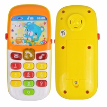Baby Toys Cellphone Mobile Phone Early Educational Learning Machine Music Toy Electric Phone Machine For Kids(Color Randomly)