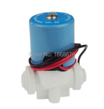 "EBOWAN DC 24v 12v Electric Solenoid Water Valve 1/4"" Direct Acting Hose Connection for Reverse Osmosis Pure System RO Controller"