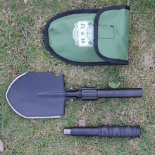 New Multi-function Survival Shovel Folding Camping Shovel Military 2017 Portable Survival Spade Trowel Dibble Pick Emergency Out(China)