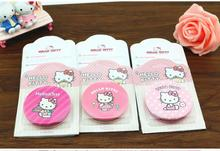Cartoon Stainless Steel Hello Kitty Home Makeup Mirror Outer Pu Leather With Retail Packing Per Pcs(China)