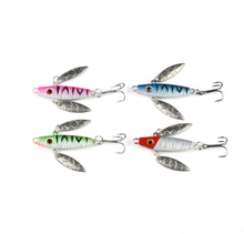4Pcs Winter Fishing Bait 7.5g 5cm Luminous Spinner Lure Mini Lead Fish Minnow Ice Jigging Fishing Lure(China)