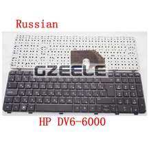 Russian New FOR HP DV6 DV6-6000 6101TX 6151TX Pavilion DV6-6200 DV6-6b00 dv6-6c00 RU black  laptop keyboard With frame