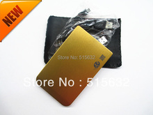 "2015 USB 2.0 2.5"" SATA External Box Hard Disk Driver Case Enclosure HDD CASE  golden"