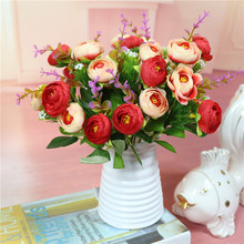 Wholesale Fake Flower Suit Quality Artificial Flowers With Vase For Home Wedding Banquet Festival Accessories Decorative Flowers