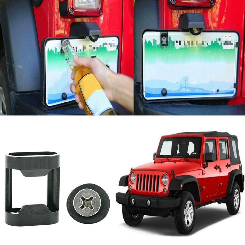 Car Beer Bottle Opener Rear License Plate Accesorio Tailgate montado