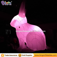 Free Courier cost 4.5M high inflatable lighting rabbit bunny Hot sale Oxford cloth customized cartoon model for toy sports