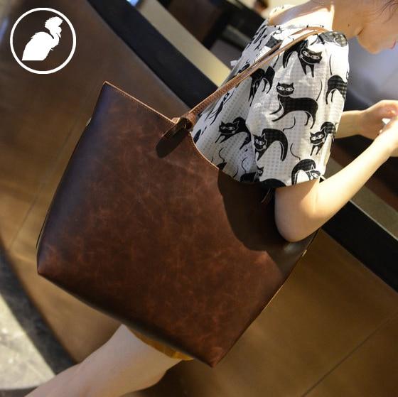 ETONWEAG 2017 Brands Leather Luxury Handbags Women Bags Designer Brown Tote Bag Open Shoulder Bag Multi Functional Shopping Bag<br>