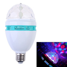 AC 85-260V 3W E27 RGB Effect 3 LED Colorful Rotating Crystal DJ Disco Party Stage Ball LED Light Bulb Lamp NG4S(China)