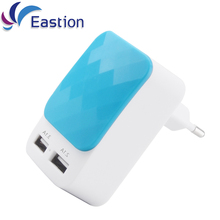 Eastion USB Charger For Samsung iPad iPhone Plus Push Cover 5V 3A Smart Adapter EU Plug Mobile Phone Wall Fast Charging Device