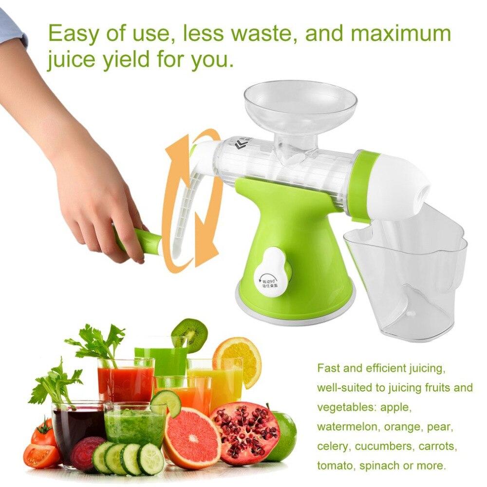 100% Fruit nutrition slow juicer Fruit Vegetable Tools Plastic Multifunctional Fruit Squeezer hand juicer machine<br>