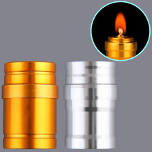 Portable Mini 10ml Alcohol Lamp Aluminum Case Lab Equipment Heating free shipping