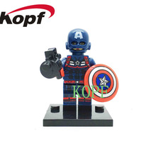 Single Sale KF087 Building Blocks Super Heroes Avengers Captain America collection Blocks Model education Best childrens Toys