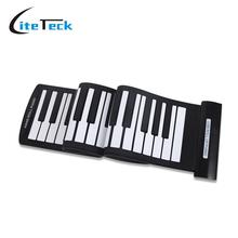 Portable 61 Keys Flexible Roll-Up Piano USB MIDI Electronic Keyboard Hand Roll Up Piano(China)