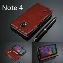 Buy note 4 card holder cover case Samsung Galaxy Note 4 N9100 N910F Pu leather phone case wallet Flip cover bags for $5.49 in AliExpress store