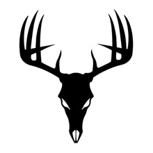 Car- stying Buck Skull Decal Hunting Deer Hunter Antlers Stickers Car Styling Jdm