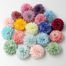 20PCS Can Mix Color Silk Carnation Artificial Flower Head For Home Wedding Party Decoration DIY Gift Scrapbooking Craft Flowers(China)