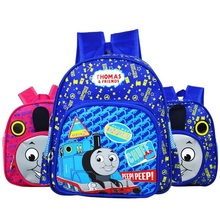 2016 New Cartoon Train Thomas School Bags for Primary Children kids School Backpack for Boys Girls Children's Backpacks Mochila