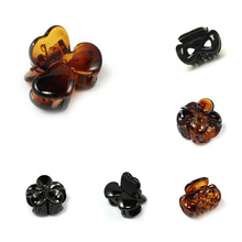 Small Plastic Black Exquisite Bow Hair Clips Hairpin Claws Clamps Women Cool Summer Party Holder Flower Hair Holder Hairpin