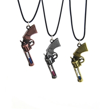 Original New Counter Strike Revolver Pendant Necklace Men Vintage Gold Hourglass Gun Chain Necklace Man Jewelry Souvenir Gift