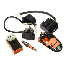 1 Set Motorcycle Relay CDI Regulator Rectifier Ignition Coil For Spark Plug 150cc 200cc 250cc Engine