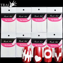 Tracy Simple Nail 1 Sheet Nail Art French Guide Stickers Fashion Designs Guider Tips DIY Manicure Stencil Beauty Tools TRFJ01-22(China)