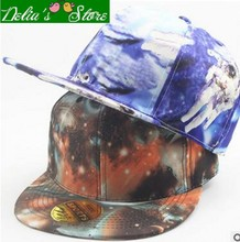 New Fashion Outdoors Color Printing Space Men Baseball Cap Snapback Caps Unisex Adjustable Hip-Hop Hats Flat Along