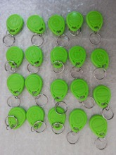 100pcs EM ID keyfobs RFID Tag Key Ring Card 125KHZ Proximity Token Access green color for door lock access controller reader