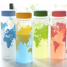 New portable plastic Bottle my water bottle accompanying map of the world series Bottle wholesale