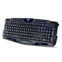 Best Price Three Color Backlight M200 Multimedia Ergonomic Gaming Keyboard Wired(China)