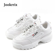 Jookrrix New Spring Fashion Lady Casual White Shoes Women Sneaker Black  Leisure Thick Soled Shoes Flats Cross-tied Lace Up Soft 0df047122bb0