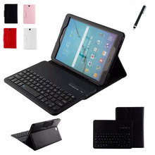 2 in1 Detachable Wireless Bluetooth Keyboard With Stand Leather Cover Case for Samsung Galaxy S2 T810 T815 9.7 inch Tablet+Pen