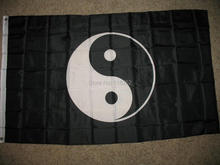 Ying Yang Flag 3x5 FT 150X90CM Banner 100D Polyester Custom flag grommets 6038,free shipping(China)