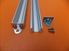 Free Ship Anodized aluminium led profile/ led strip aluminium heat sink manufacture/ aluminium heatsink with cover and end caps(China)