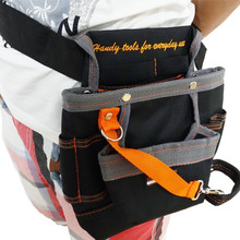 High Quality 8 Pockets Oxford Tool Pouch Electrician Tools Bag Electrician Tool Belt Waist Pocket Tool Belt Pouch work belt ZK44(China)
