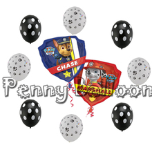 9pcs/lot Dogs Patrol  Latex Balloons Dog Animal Foil Balloon  Birthday Party Decorations  Kids Toys