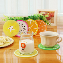 Cute Silicone Cup Mat Coffee Tamper Pads  Fruit Colorful Tea Cup Mats Drinks Coaster Nonslip Mat pads Cup Cushion Minions