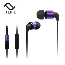 HIFI Metal Original 3.5mm Jack Earphone Stereo Earbud Super Bass Noise Isolating With Mic For iPhone Xiaomi Samsung All Phone