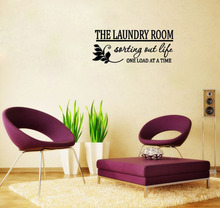THE LAUNDRY ROOM Sorting Out Life One Load wall art decals living room decoration bedroom wallpaper