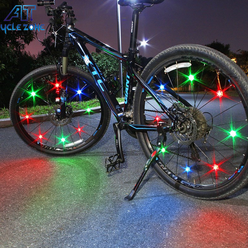 MTB Road Bike Head Front Lights Red Rear Tail Battery Lamps Set Bicycle Cycling
