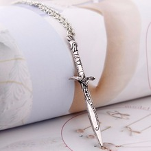 JAVRICK The Lord of The Lotr Hobbit Antique Sting Silver Sword Pendant Necklace Hot New 38133