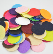 DECORA 200 PCS 2.5CM Eco-friendly Round Felt Fabric Pads Accessory Patches Circle Felt Pads Fabric Flower Accessories
