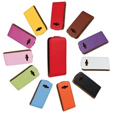 Genuine Leather Case Luxury Vertical Magnetic Flip Phone Accessories Cover For Samsung Galaxy Ace 4 G313h NXT G313 PS(China)