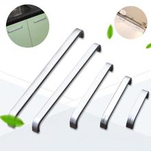 1pc 64mm 96mm 128mm 160mm 192 mm Pull Handle Knob Drawer Cabinet Cupboard Pull Furniture Hardware Handle Door Pull Aluminum