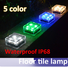 High qualitity outdoor waterproof IP68 LED solar brick light Floor tile lamp with 7*7*5cm(China)