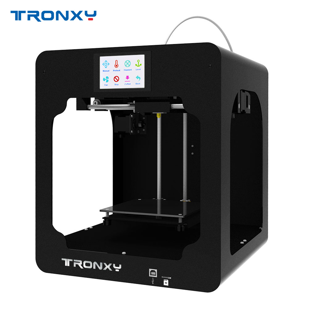 Tronxy C2 Desktop High Precision 3D Printer DIY Kits with Touch Screen for Children Students Gift with 250g Filament Sample